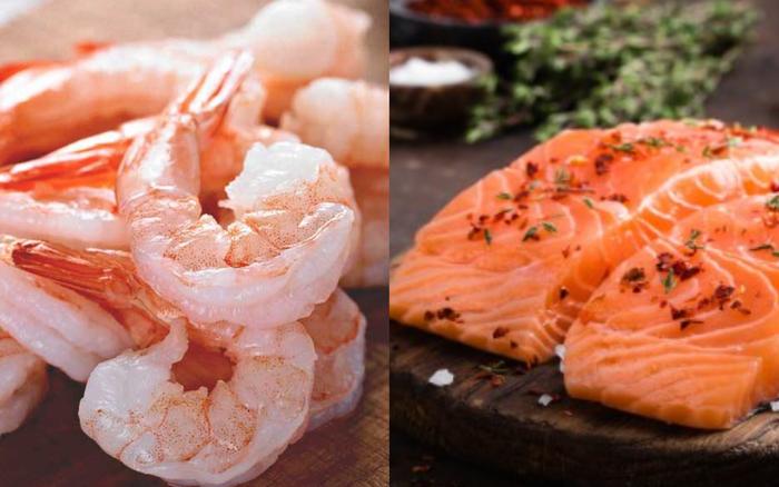 Tôm hay cá hồi bổ dưỡng hơn? 4 lưu ý cần nhớ khi ăn tôm và cá hồi