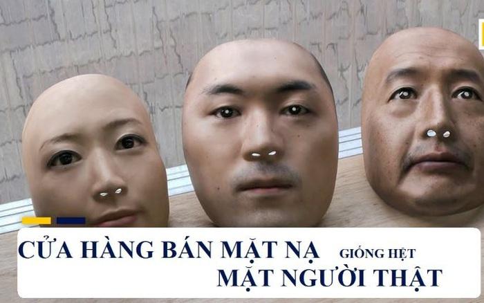 Mặt nạ người thật in 3D có giá hàng trăm USD tại Nhật Bản