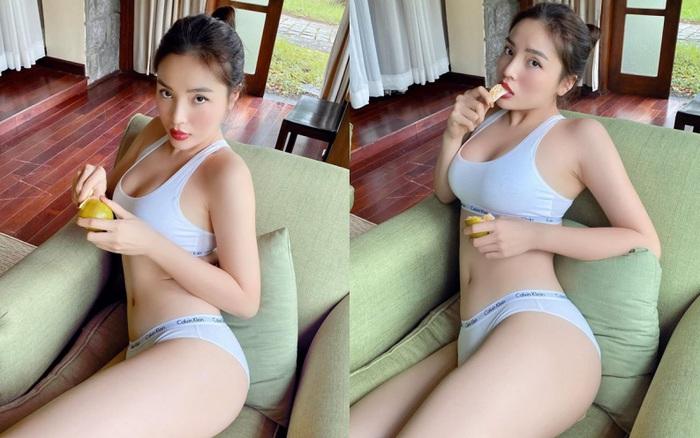 Chỉ là ăn hoa quả mà Hoa hậu Kỳ Duyên cũng phải sexy tới mức này!