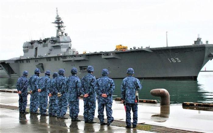 """Nhật Bản cải tạo tàu """"khu trục trực thăng"""" thành tàu sân bay - kết quả xổ số vĩnh long"""