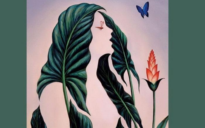 Ấn tượng thị giác: Bạn nhìn thấy cô gái hay lá hoa trước tiên, và nó tiết lộ điều gì?