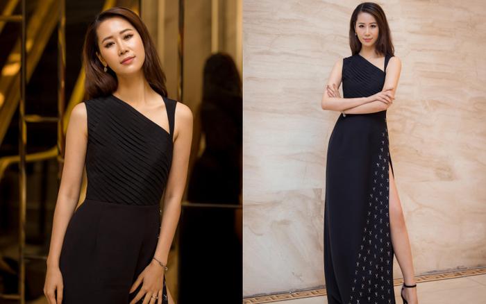Hoa hậu Dương Thùy Linh khoe chân dài