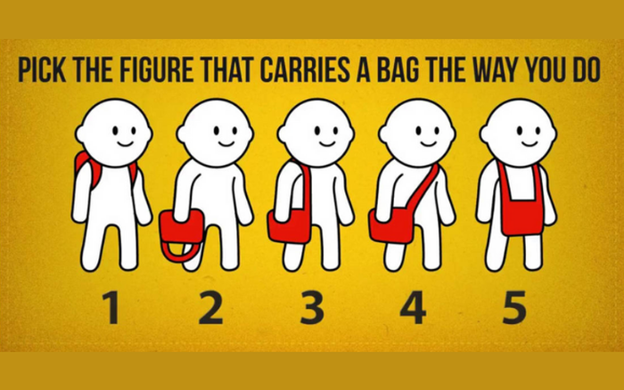 Bạn thường đeo túi như thế nào? Số 4 là người giản dị, không ham vật chất