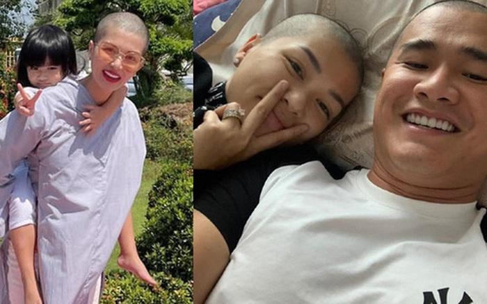 Vợ chồng Hoa hậu Oanh Yến đồng loạt cạo trọc đầu, chuyện gì đây?