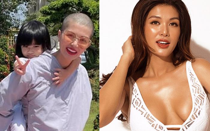 Nhan sắc nóng bỏng của Hoa hậu Việt 6 con gây sốc vì cạo trọc đầu