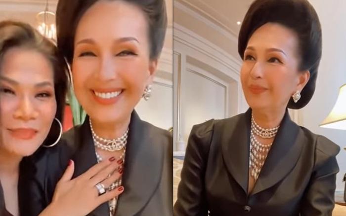 Nữ hoàng ảnh lịch Diễm My 59 tuổi vẫn xinh đẹp, giàu có, diện đồ 170 triệu - giá vàng 9999 hôm nay 1011