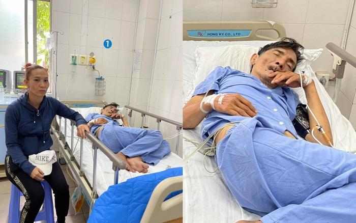 Vợ diễn viên Thương Tín đã có mặt tại bệnh viện, gương mặt lo lắng, căng thẳng