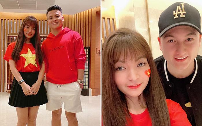 Bạn gái hot girl của Mạc Văn Khoa phấn thích khi đứng cạnh Lâm Tây, Quang Hải