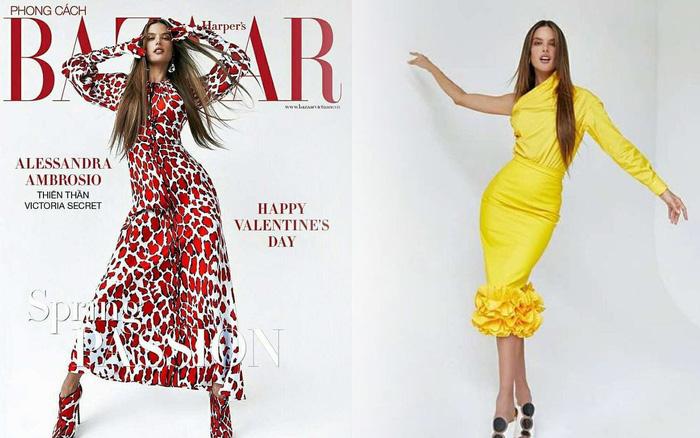 Chân dài đắt giá Alessandra Ambrosio khoe dáng trên tạp chí Việt Nam