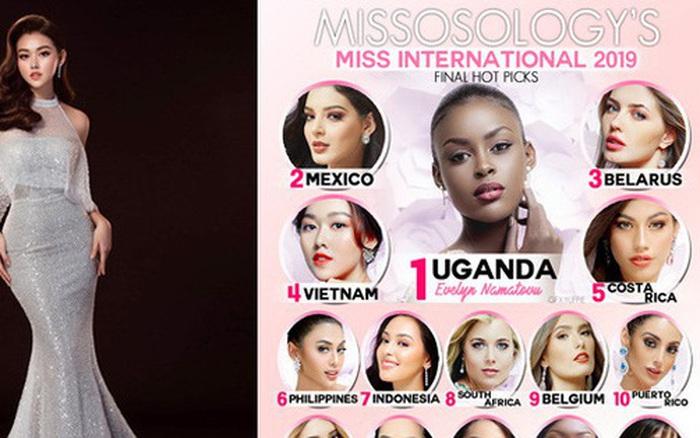 Tường San bất ngờ bứt phá leo thẳng top 4 BXH Missosology ngay trước thềm chung kết Hoa hậu Quốc tế 2019