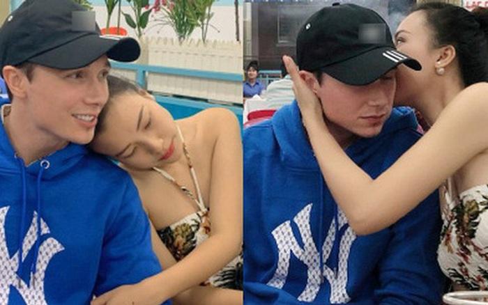 MC Hoàng Oanh và chồng Tây ngọt ngào hết mức, ôm hôn cực tình ở quán ăn trong tuần trăng mật tại Nha Trang