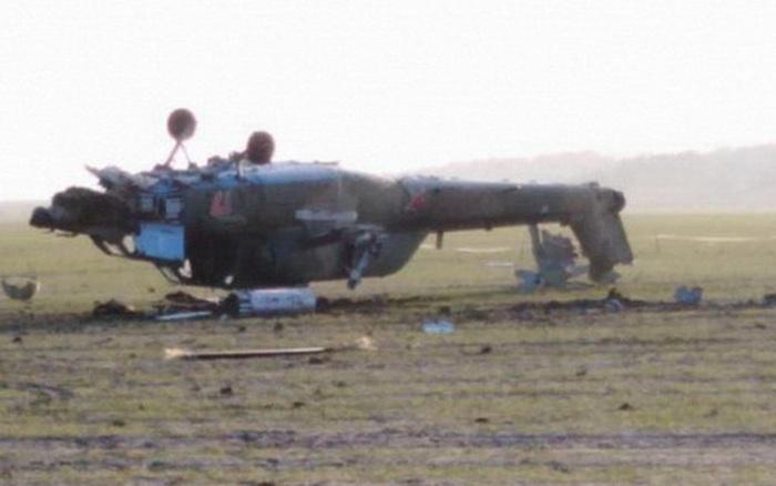 Nga công bố hình ảnh trực thăng Mi-28UB rơi trong khi bay huấn luyện