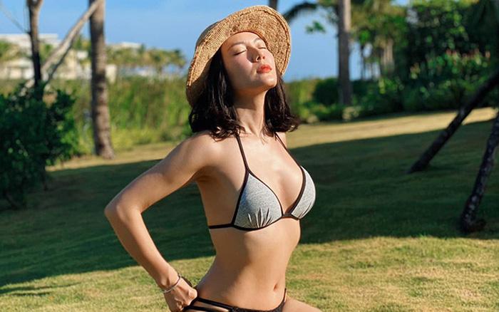Tung loạt ảnh diện bikini gợi cảm, Phương Linh tiết lộ số đo 3 vòng gây bất ngờ