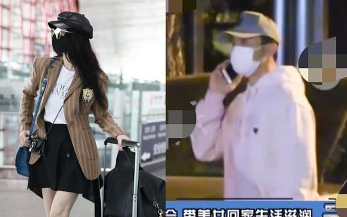 """Phạm Băng Băng xuất hiện sang chảnh ở sân bay, trong khi """"tình cũ"""" Lý Thần thì bị bắt gặp đi bar rồi đưa..."""