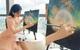 Bức ảnh làm màu của Võ Ngọc Trân lên hẳn MXH Trung, netizen chê không ngớt: Chẳng ai vẽ tranh mà ăn mặc như vậy